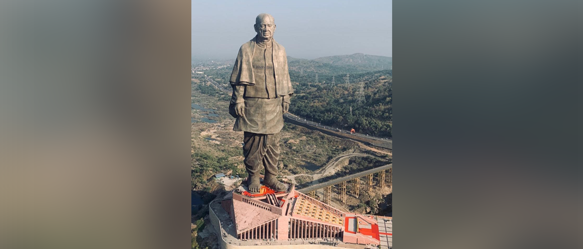 Prime Minister Narendra Modi inaugurated Sardar Vallabhbhai Patel's Statue of Unity, the world's tallest statue in Gujarat's Kevadia on 31 October 2018